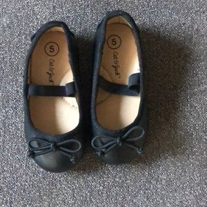 Little Girls Black Shoes